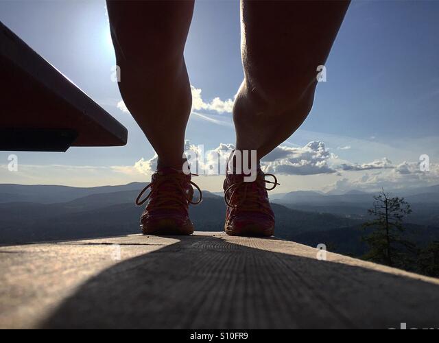 Summit Selfie, Westcoast Style - Stock-Bilder