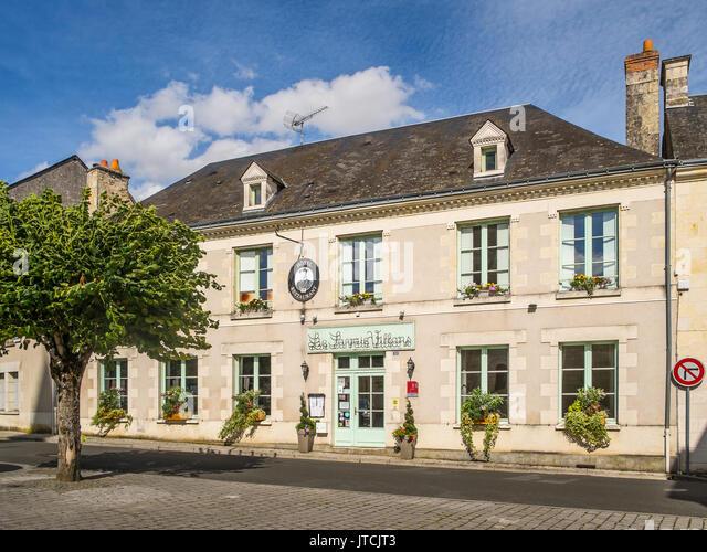 'Le Savois Villars' hotel restaurant, Le Grande Pressigny, France. - Stock Image