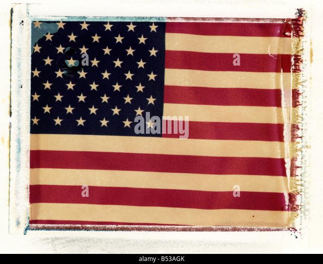 an americam flag (sharp) - Stock Image