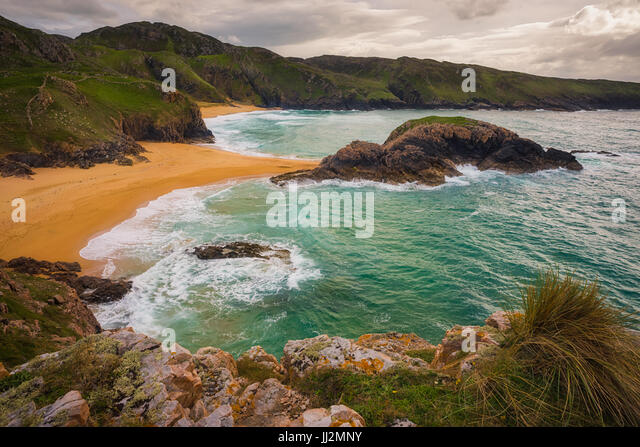 Murder Hole beach in Ireland - Stock Image