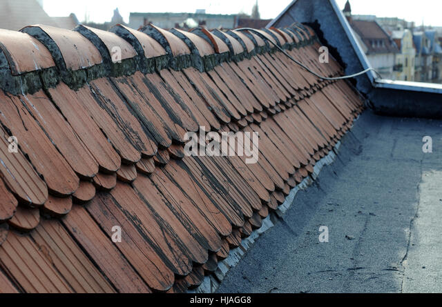 city, town, rusty, old, corroded, chimney, drainpipe, chimney-flue, apartment - Stock Image