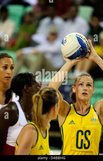 Netball semifinals, England vs Australia, Commonwealth Games - Stock Image