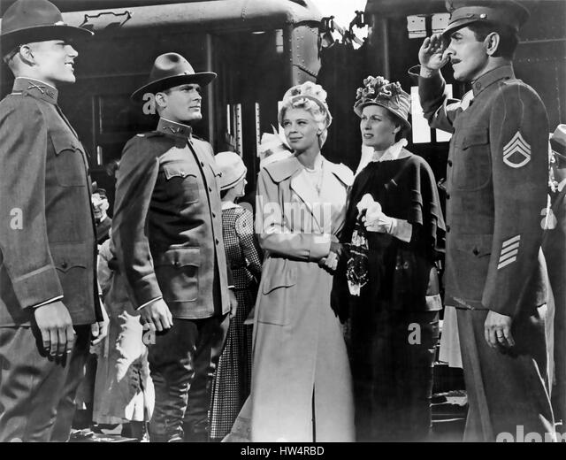 THE LONG GRAY LINE  1955 Columbia film directed by John Ford  with Tyrone Power and Maureen O'Hara at right - Stock-Bilder