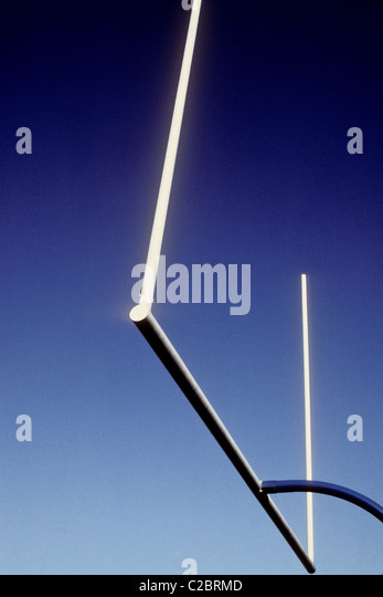 American football goalpost. - Stock Image
