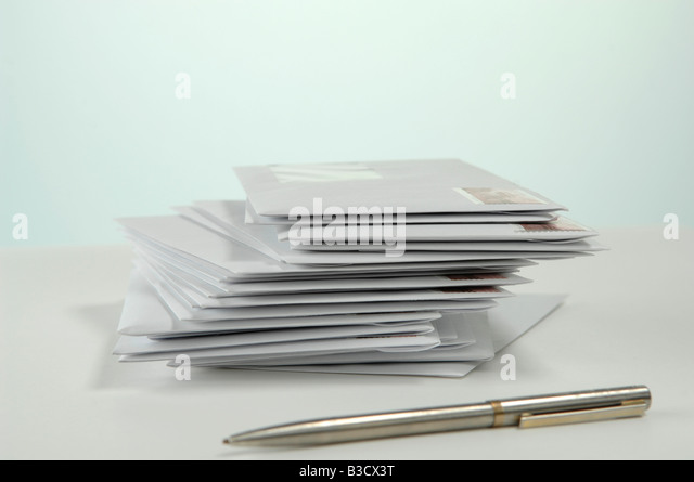 Envelopes with stamps - Stock Image