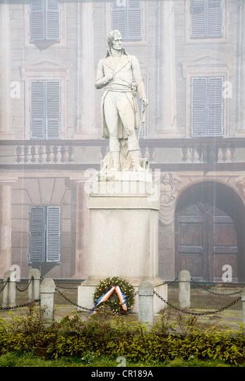Italy, Alessandria, Marengo, battle place, statue of Napoleon - Stock Image