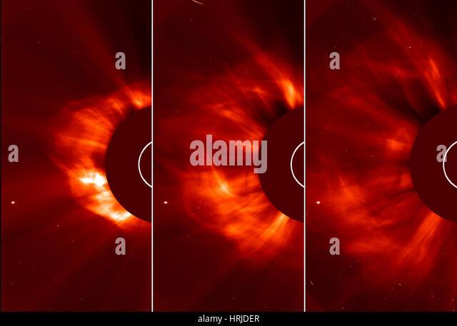 Sun Emits Coronal Mass Ejection, 2013 - Stock Image