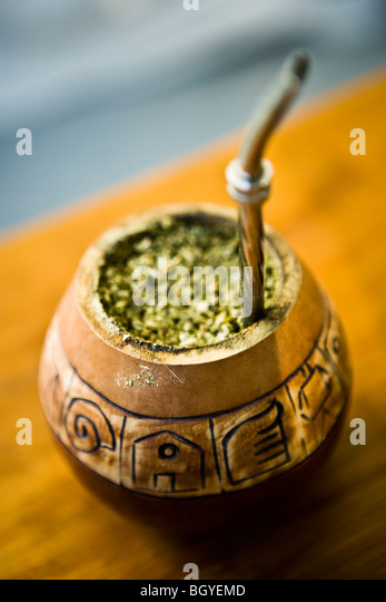 Mate tea - Stock Image