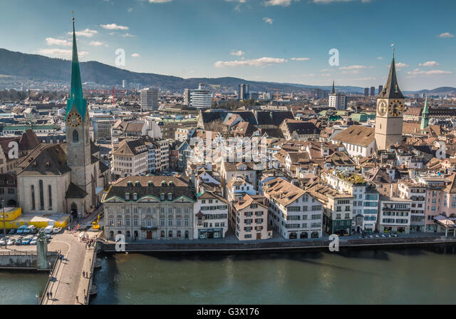 View of Zurich - Stock Image