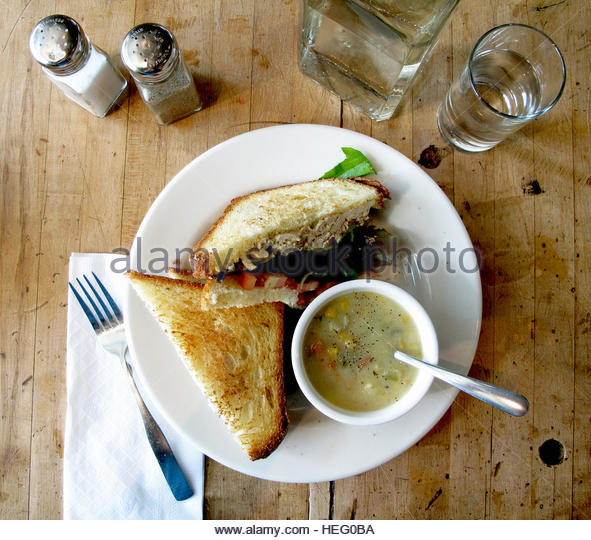 Food: Breakfast and Lunch - Stock Image