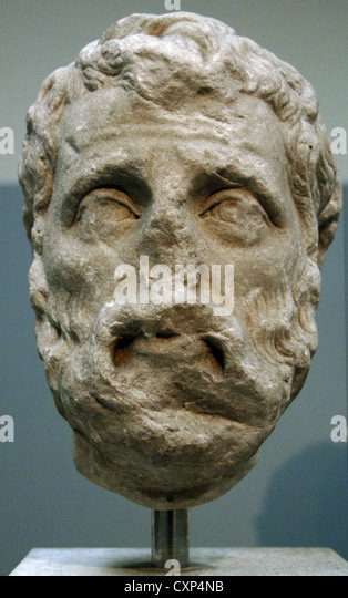 Herodes Atticus (101-177). Greek aristocrat and consul. Bust. Marble. 177-180 AD. Probably from Alexandria. British - Stock Image