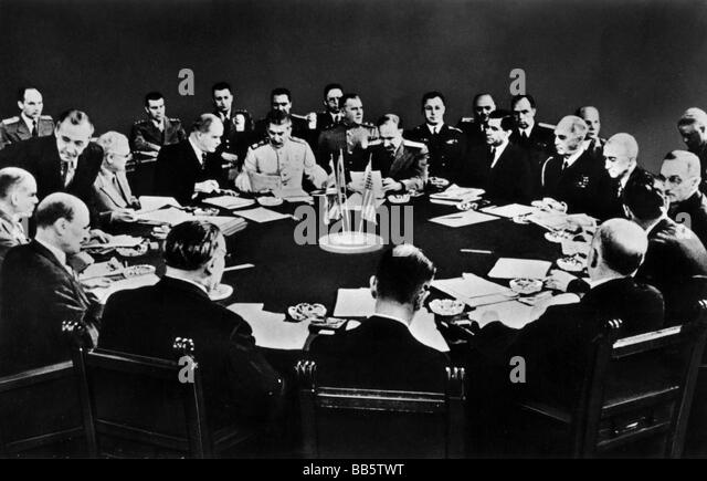 events, Second World War / WWII, conferences, Potsdam Conference 17.7.1945 - 2.8.1945, Clement Attlee, Joseph Stalin - Stock Image