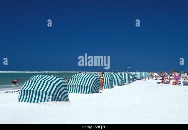Florida Marco Island Tiger Tail Beach - Stock Image
