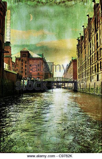 Hamburg speicherstadt 1 - Stock-Bilder