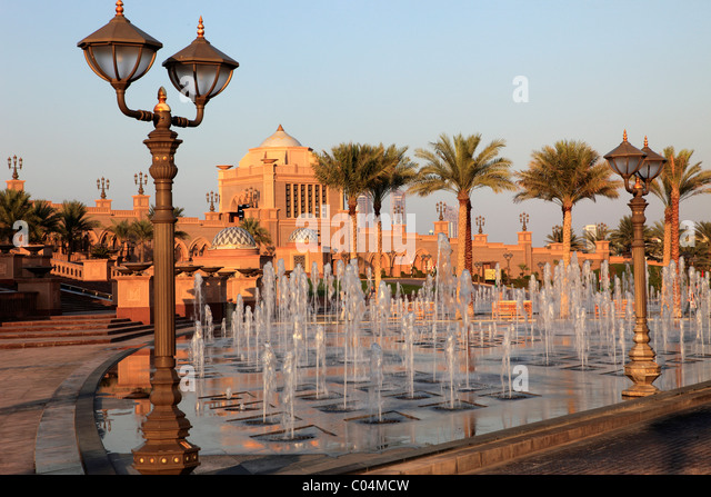 United Arab Emirates, Abu Dhabi, Emirates Palace Hotel, - Stock Image