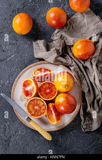Sicilian Blood oranges fruits - Stock Image