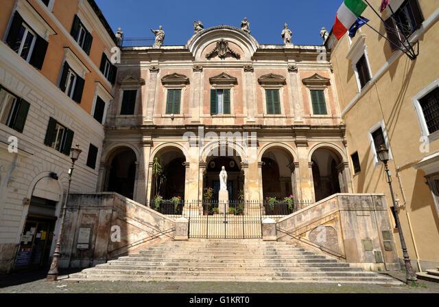 italy, rome, piazza vittorio emanuele II, church of sant'eusebio - Stock Image