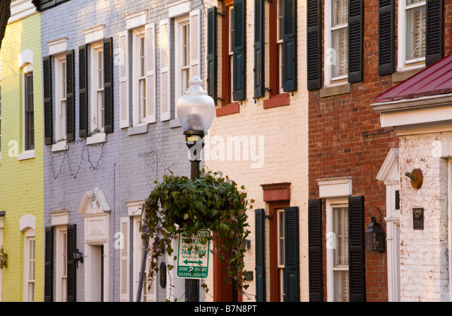 Residential architecture Georgetown Washington D.C. - Stock Image