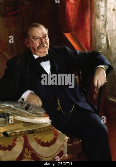 Anders Leonard Zorn - Grover Cleveland - Stock Image