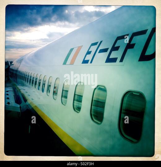 Airplane fuselage - Stock Image