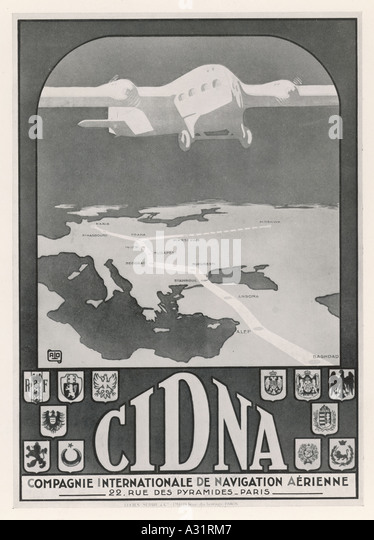 Advert Cinda Airline - Stock Image