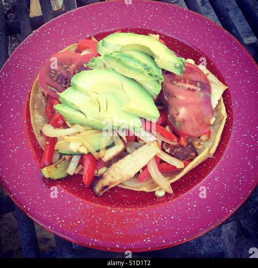 Camp food/taco - Stock Image
