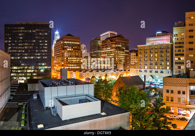 Hartford, Connecticut, USA downtown cityscape. - Stock Image
