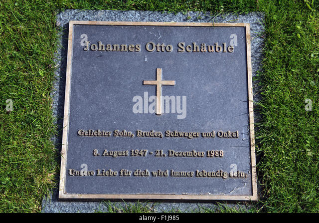Lockerbie PanAm103 In Rememberance Memorial Johannes Otto Schauble,Scotland - Stock Image
