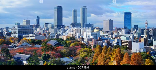 Nagoya, Japan downtown skyline panorama. - Stock Image