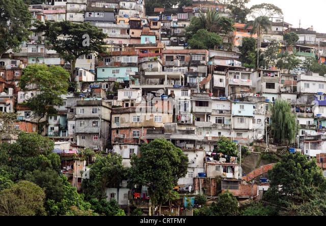 Favela Rio de Janeiro Brazil South America - Stock Image