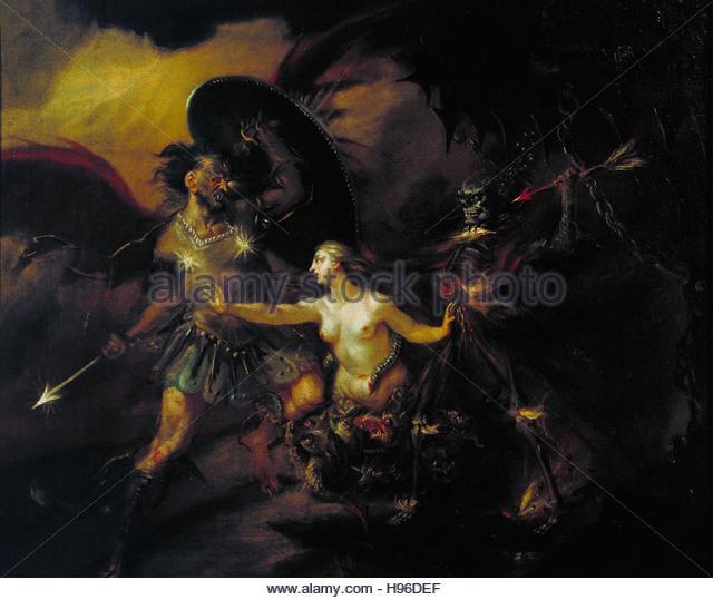 Satan Sin And Death Paradise Lost Book: Satan Stock Photos & Satan Stock Images
