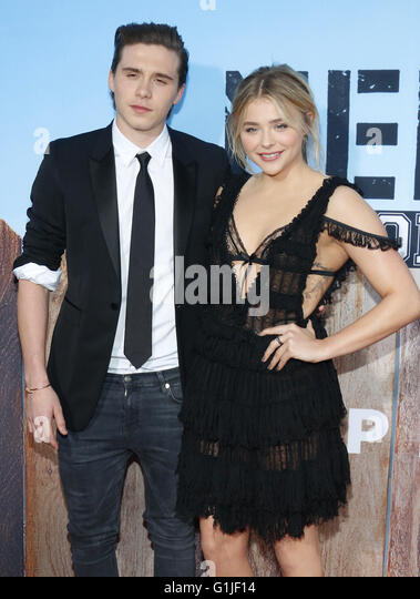 Los Angeles, California, USA. 16th May, 2016. Chloe Grace Moretz and Brooklyn Beckham at the Los Angeles premiere - Stock Image