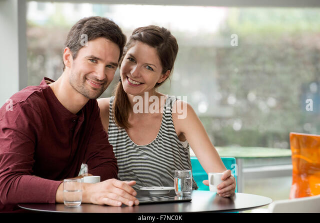 Couple spending quality time together - Stock Image