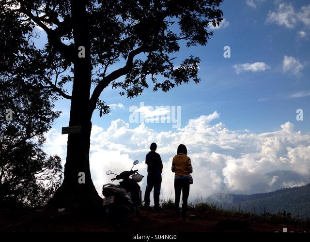Couple in chaing Mai, Thailand - Stock Image