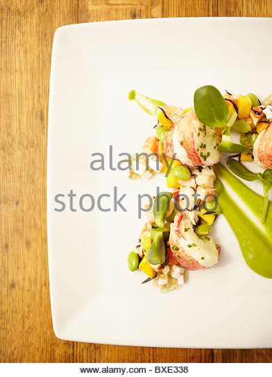 Close up of lobster entree - Stock Image