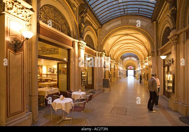 Vienna Palais Ferstel shopping gallery - Stock Image