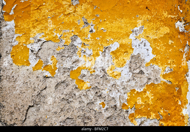 Old weathered painted wall for grunge background - Stock Image