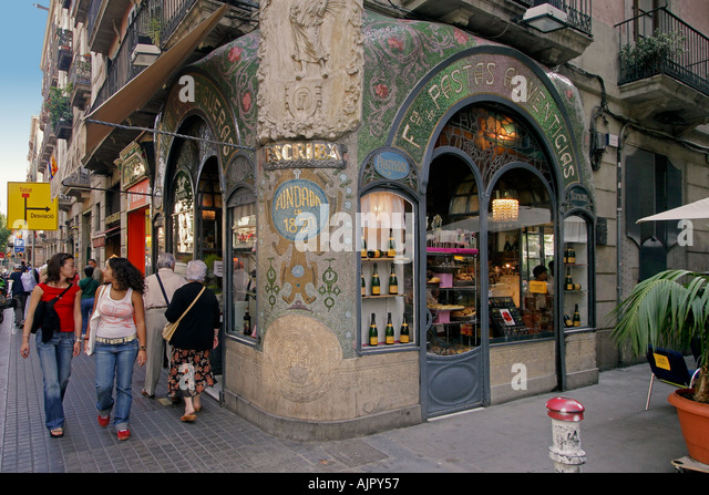spain Barcelona patisserie at the ramblas - Stock Image