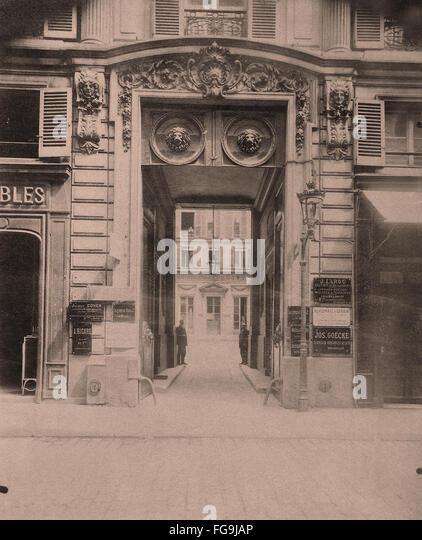 Paris street view - Stock Image