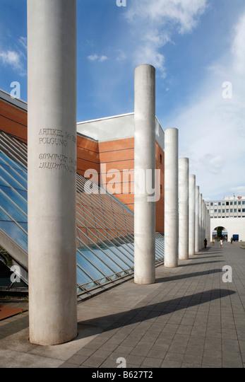 Germanisches Nationalmuseum, Dani Karavan, Strasse der Menschenrechte, Street of Human Rights, historic city centre, - Stock-Bilder