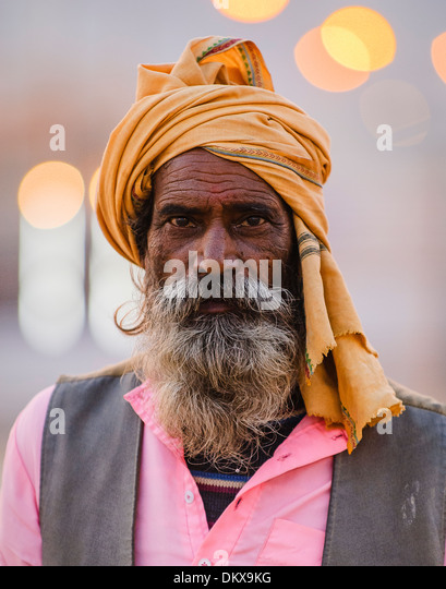 Hindu pilgrim at the 2007 Ardh Kumbh Mela, Allahabad India - Stock-Bilder