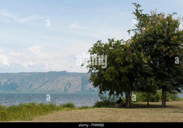 Lake Albert, Uganda - Stock Image