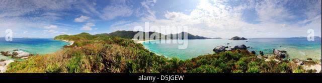 Panorama of Tokashiki Island in Okinawa, Japan. - Stock Image