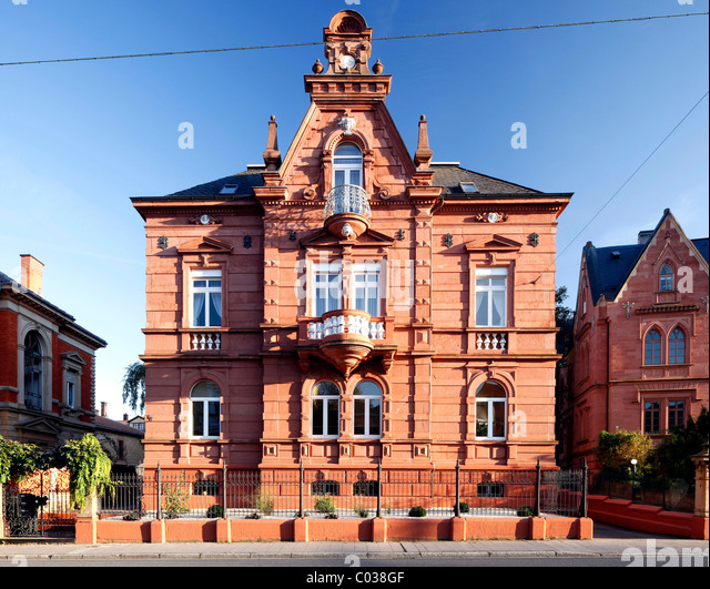Gruenderzeit Villa, building from the Founding Epoch period, Landau in der Pfalz, Southern Wine Route, Rhineland - Stock-Bilder