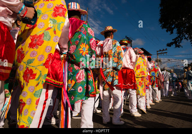 The traditional festivity of Congada, by the sea coast communities of SE Brazil - Stock Image