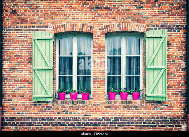 Château de Martainville - windows - Stock Image