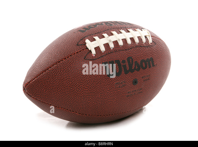 american football cutout - Stock Image