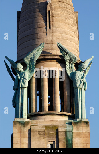 Sacred Heart church spire, Gentilly, Val-de-Marne, France, Europe - Stock Image