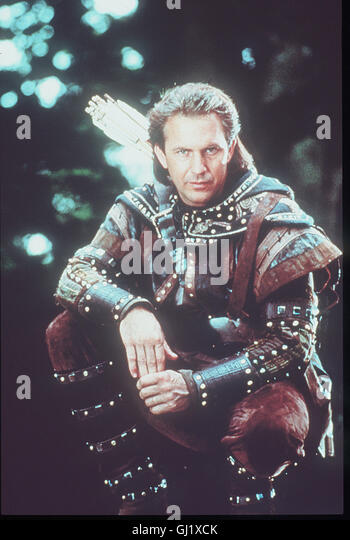ROBIN HOOD - KÖNIG DER DIEBE Robin Hood (KEVIN COSTNER) kämpft auf der Seite der Armen und Unterdrückten - Stock Image