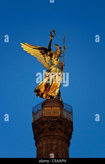 Berlin victory column  - Stock Image